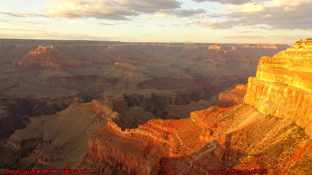 Grand Canyon South Rim Sunset colors