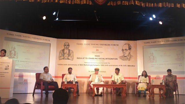 Enabling Social Integration, Ramanujacharya-Ambedkar Awards presented in Chennai