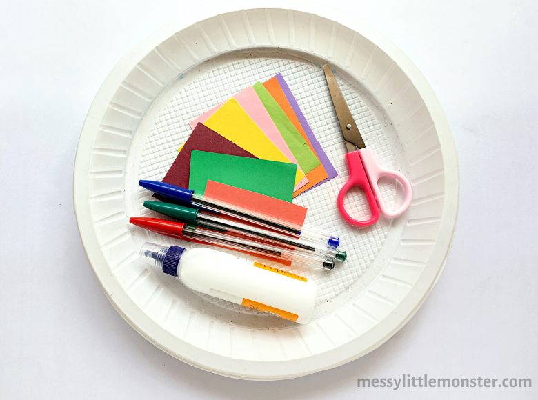 paper plate space craft supplies