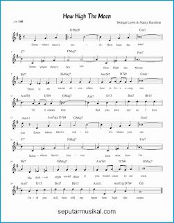 chord how high the moon lagu jazz standar