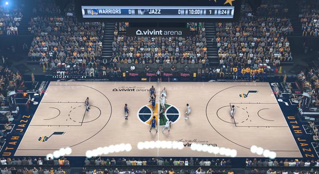 NBA 2K21 Utah Jazz Stadium Realism - Vivint Arena by rtomb_03