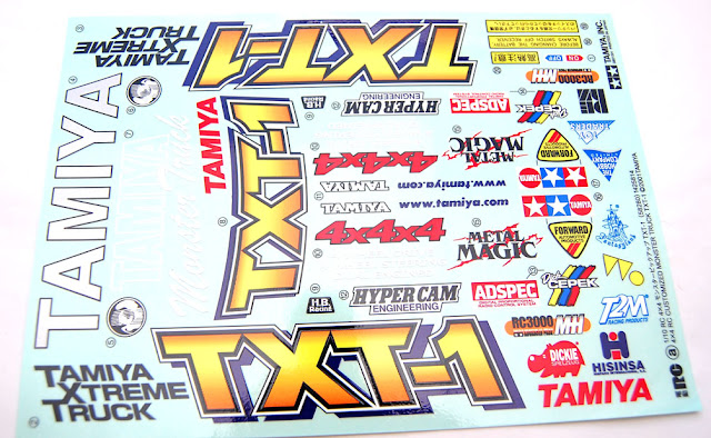 Tamiya TXT-1 decal sheet