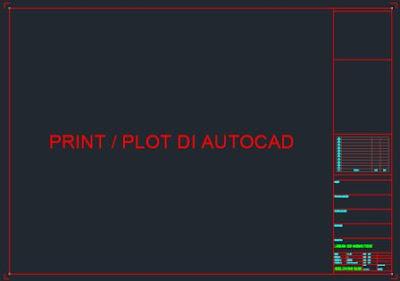 Cara Print di Autocad