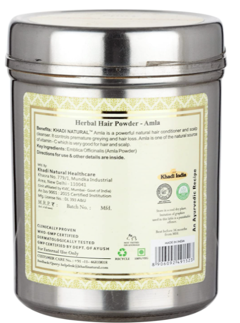 Khadi Herbal Ayurvedic Amla Powder, 150g
