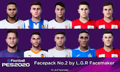 PES 2020 Facepack No.2 by L.G.R Facemaker