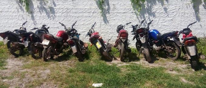 Mais 09 motos roubadas são recuperadas pela Polícia Militar em Chapadinha