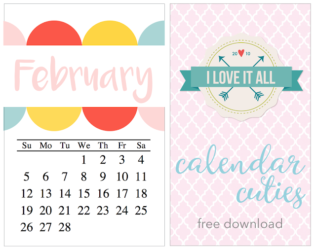 #february #calendar #printable #project life #travelers notebook #mini album