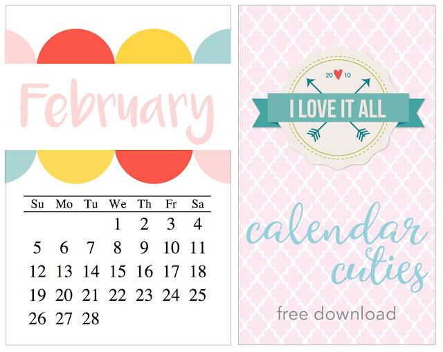 #february #calendar #printable #project life #travelers notebook #mini album