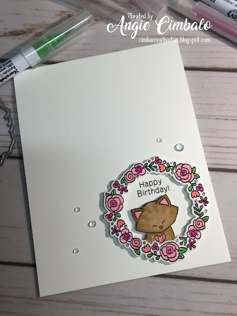 Happy Birthday by Angie features Newton Dreams of Italy, Happy Little Thoughts, and Newton's Birthday Flutter by Newton's Nook Designs; #newtonsnook