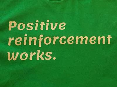 Positive reinforcement works: CAP merch