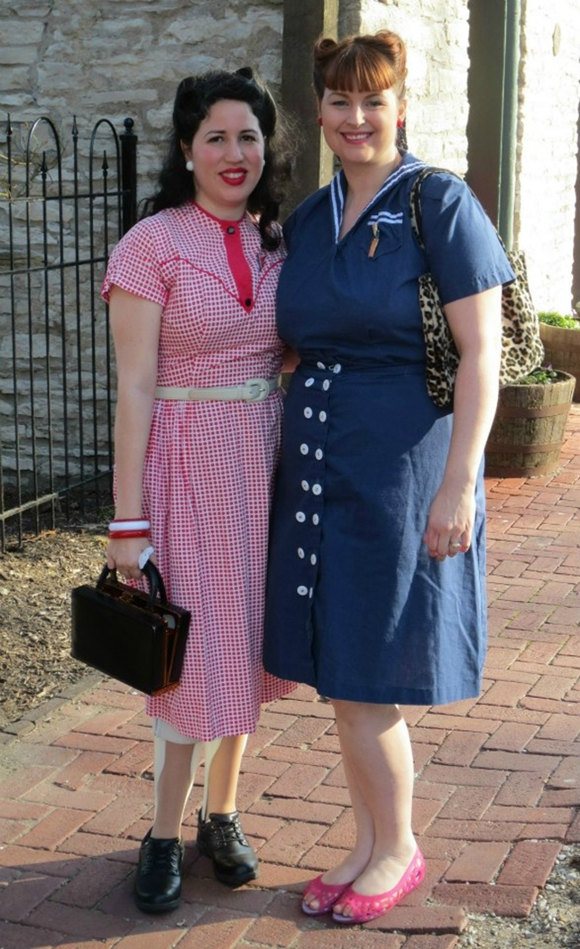 1940's style dresses with Wearing History Playsuit