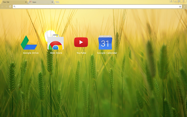 Barley Field Chrome Theme