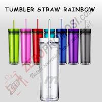 Souvenir Tumbler Straw Rainbow (WB-121)