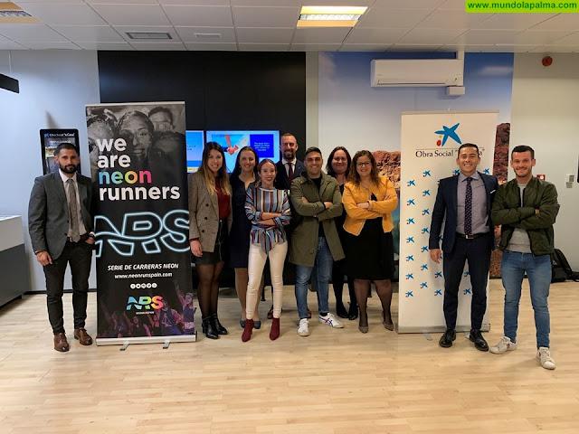 El Ayuntamiento de Los Llanos, la Obra Social CaixaBank y Neon Run Spain se unen en beneficio del deporte infantil y la solidaridad