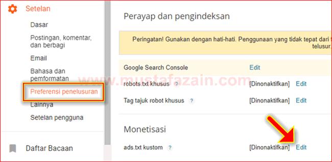 Cara Mudah Mengaktifkan Ads.txt pada Blogspot