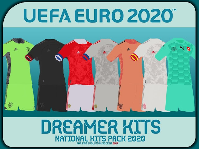 PES 2017 EURO 2020 National Team Kitspack by Dreamer