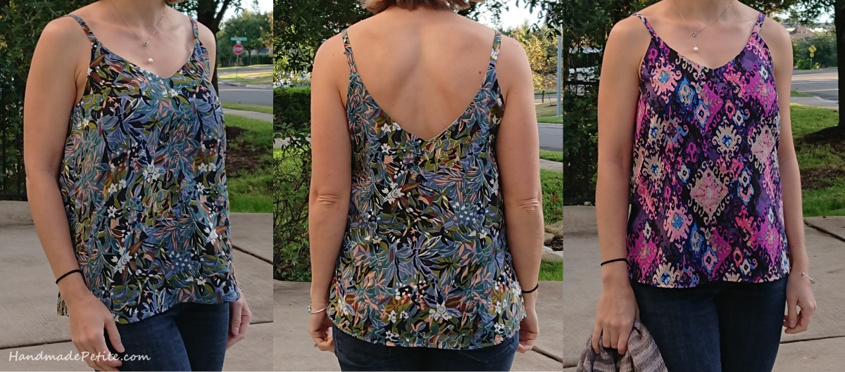 Handmade sewn Ogden top using vintage fabric