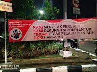 Tolak Kerusuhan, Warga Jakarta Barat Pasang Spanduk