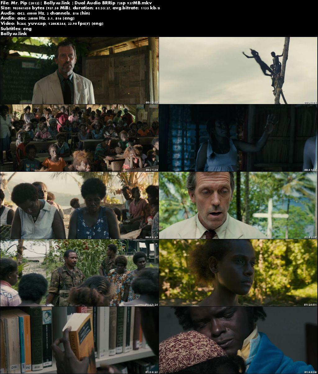 Mr Pip 2012 BRRip 900MB Hindi Dual Audio 720p Download