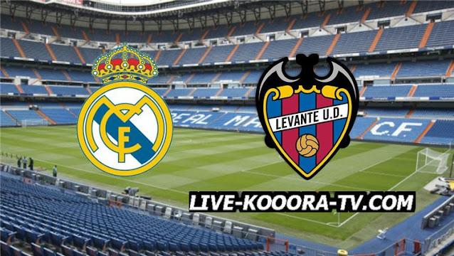 موعد مباراة ريال مدريد وليفانتي في الدوري الإسباني 2022/2021 والقنوات الناقلة