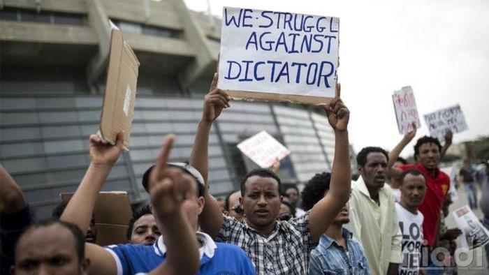 aksi protes warga eritrea kepada penguasa otoriter