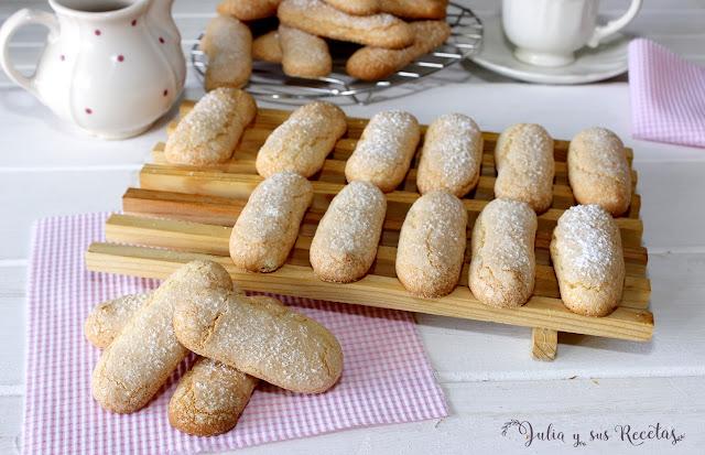 Bizcochos de soletilla o vainillas. Julia y sus recetas