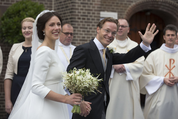 Prince Jaime de Bourbon Parme and Viktoria Cservenyak leave the Church Of Our Lady At Ascension after their wedding on October 5, 2013 in Apeldoorn, Netherlands.