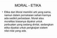 Definisi / Pengertian Moral