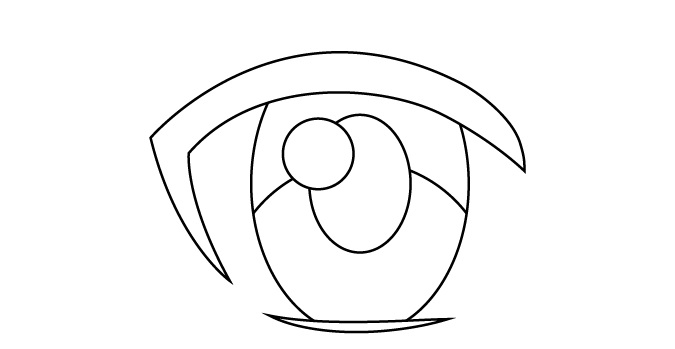 Refleksi cahaya utama mata anime wanita