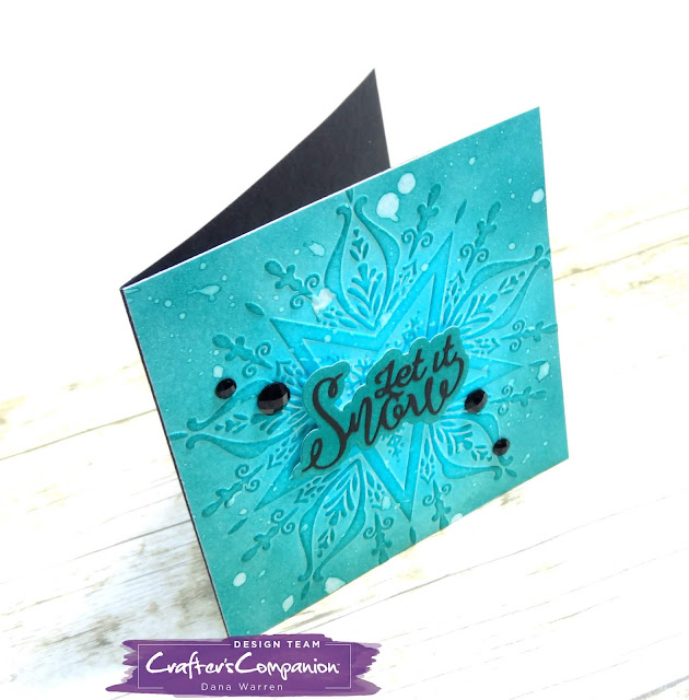 Dana Warren - Kraft Paper Stamps - Crafter's Companion - Embossing Folder