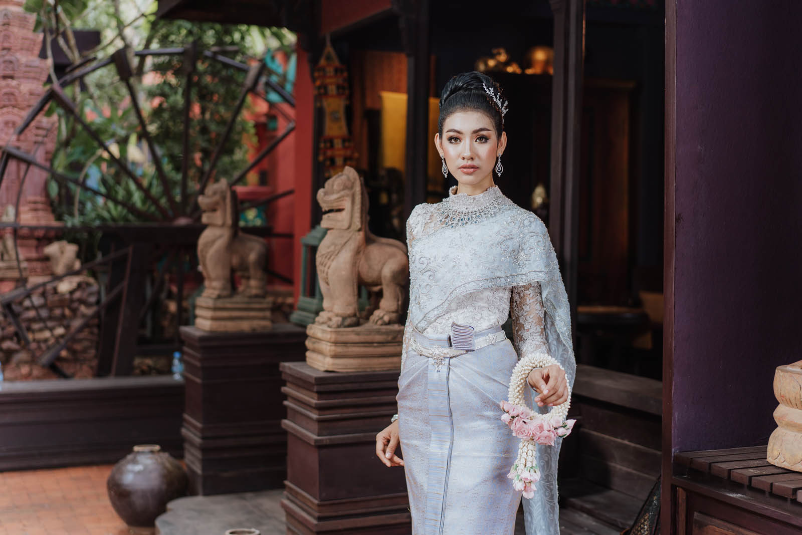 Khmer girl with traditional dress