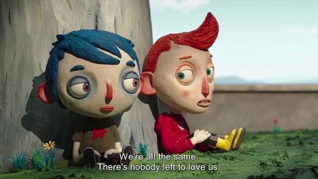 Fotograma de la pelicula de animación realizada con la técnica de stopmotion por el director Claude Barras My Life as a Courgette Mi vida de calabacín