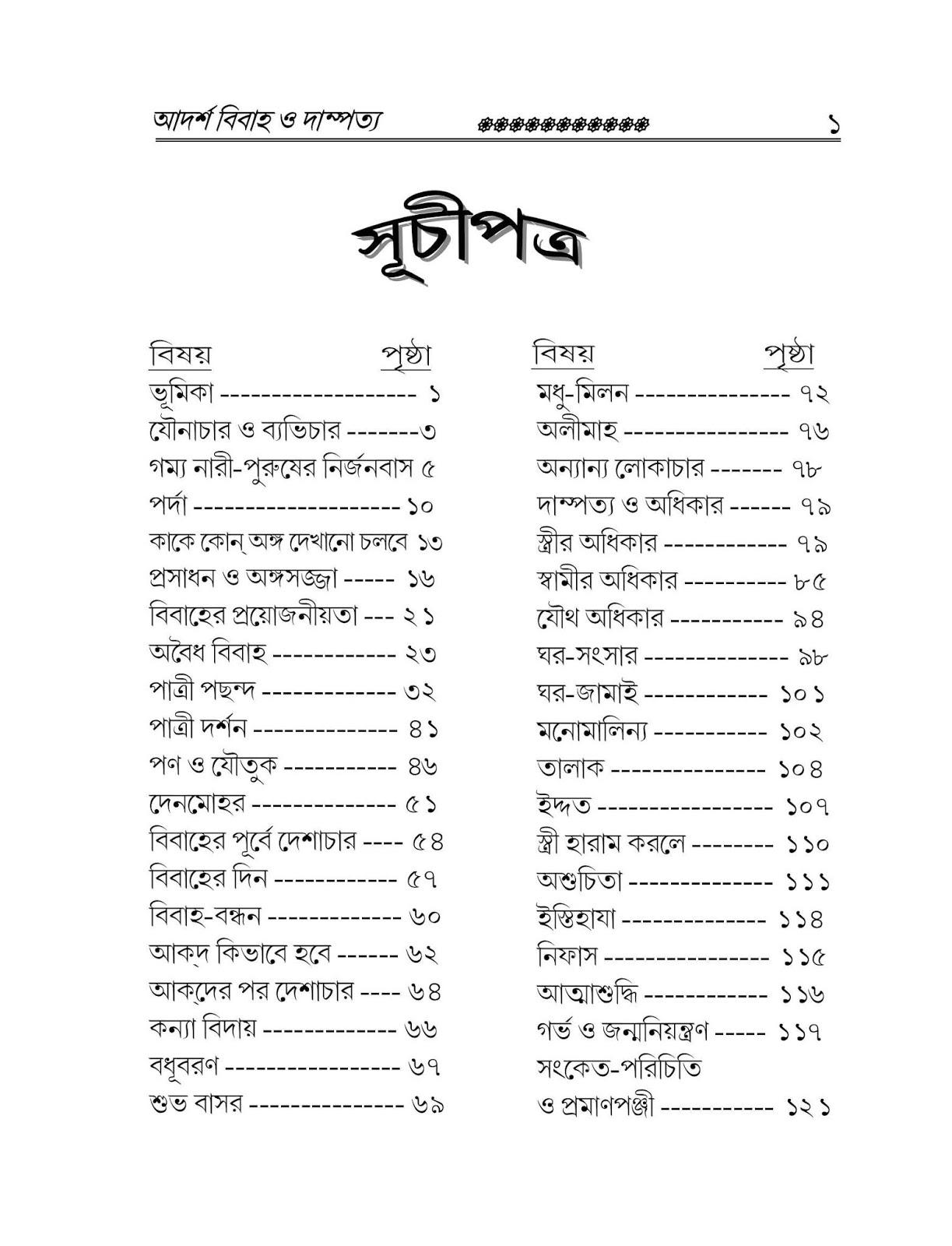 আদর্শ বিবাহ ও দাম্পত্য বই pdf |বিয়ে নিয়ে বই pdf | বিবাহ বই pdf
