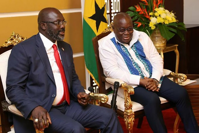 We Represent the Values of Tenacity - President Akufo Addo to President George Weah