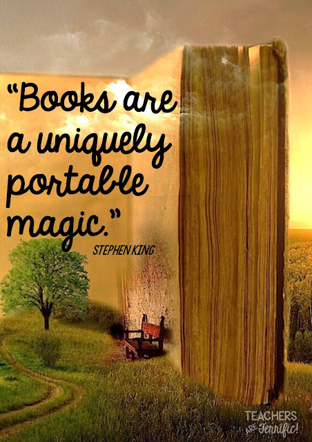 """Books are a uniquely portable magic!"" Here are five fabulous books I can recommend. The first one was my favorite! Which one is yours?"