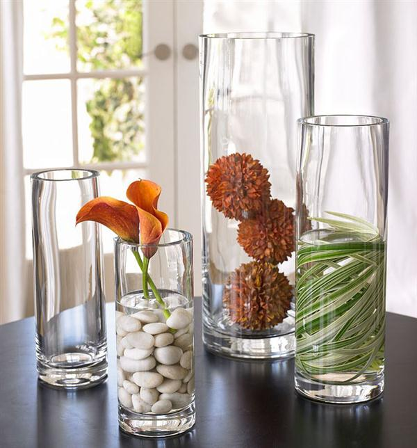 Home Decorating Ideas Glass Vases: Result Of Clear Glass Flowers With A Touch Of Simple