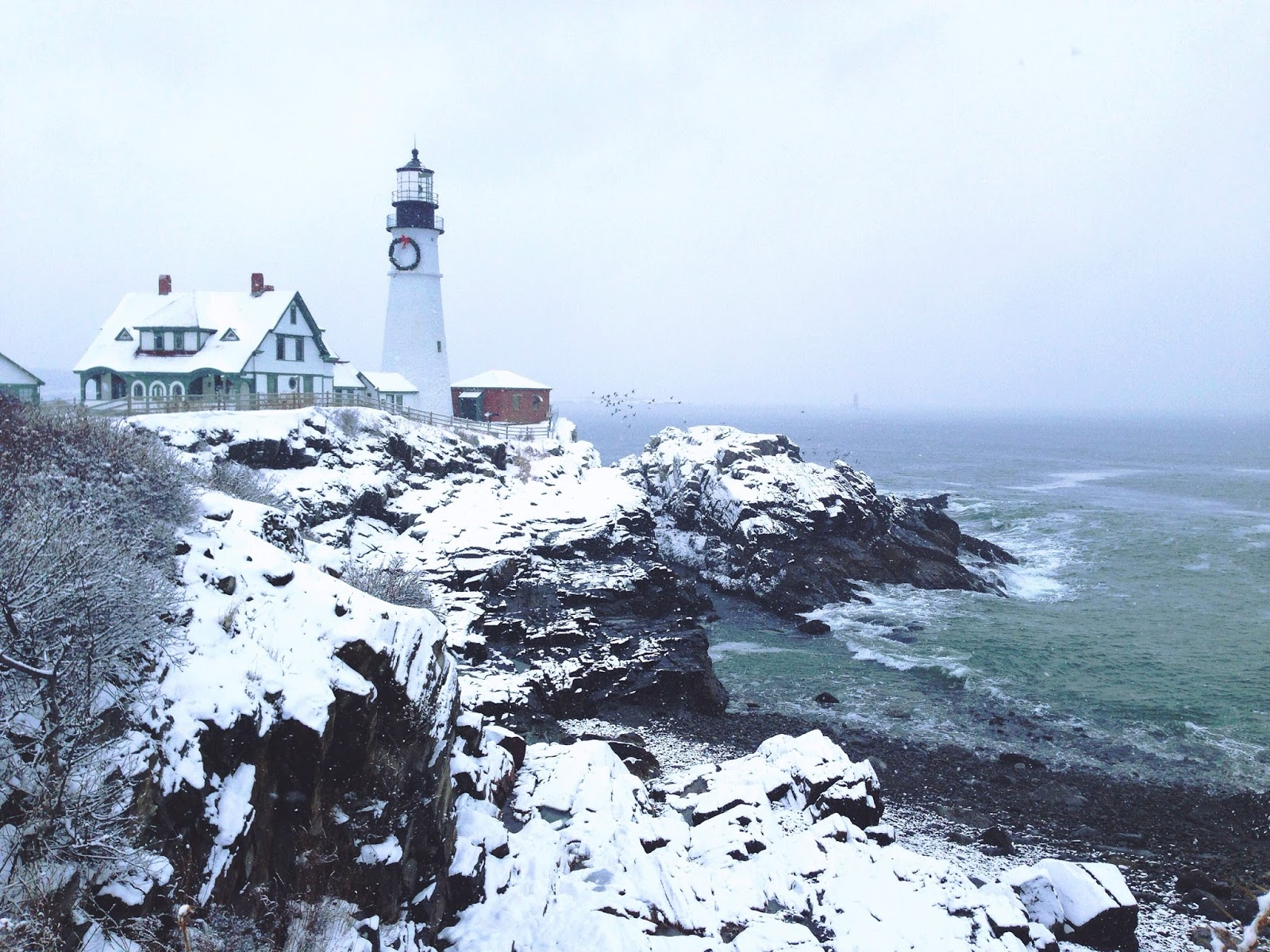 portland head light christmas maine