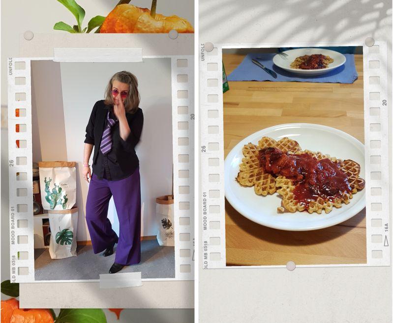 Violett und schwarz in den Herbst ü30Blogger