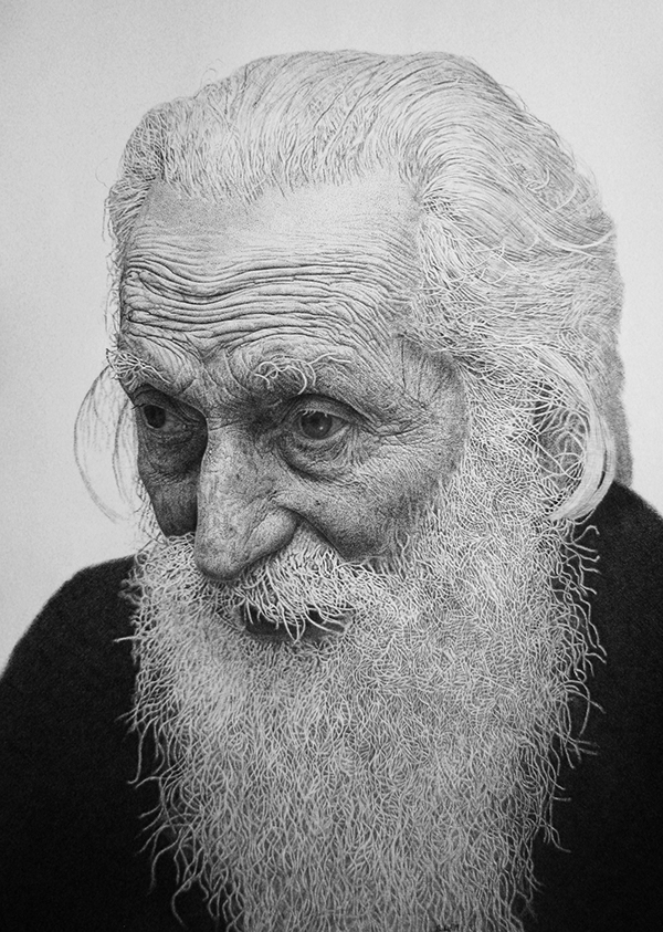 03-Patriarch-Paul-Predrag-Djukic-Realistic-Portraits-mostly-Ink-on-Paper-Drawings-www-designstack-co
