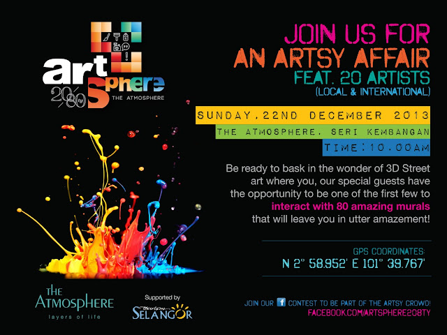 The invitation to Artsphere 20/80ty at The Atmosphere Seri Kembangan