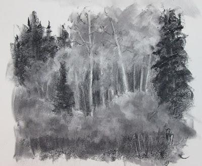 art sketch charcoal landscape nature
