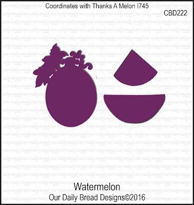 Our Daily Bread Designs Custom Die:  Watermelon