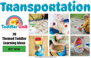 Toddler lesson plans - transportation