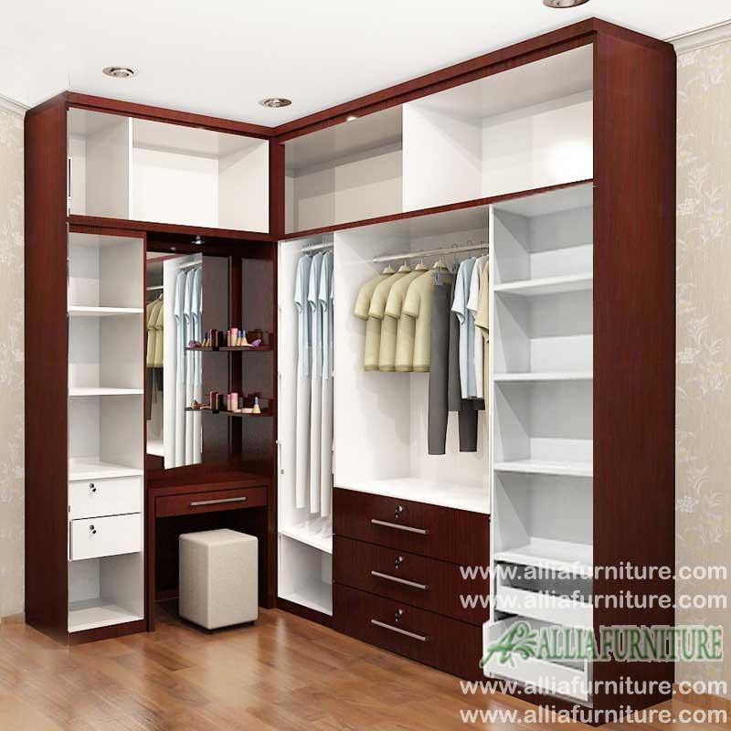 lemari baju minimalis model sudut max