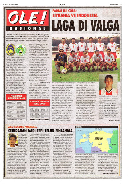 UJI COBA LITUANIA VS INDONESIA LAGA DI VALGA