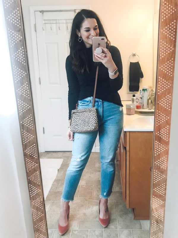 what to wear for valentine's day, valentine's day outfits, nc blogger, north carolina blogger, style on a budget, madewell sweater