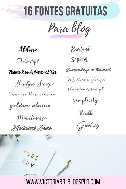 Fontes gratuitas para download e elegantes para usar em seu blog. Clique e baixe! #dicasparablog #blogdesucesso #fontesparabaixar #fontesgratuitas