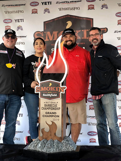 Rio Valley Meats BBQ won Grand Champion at the 2019 Smokin' with Smithfield National Barbecue Championship