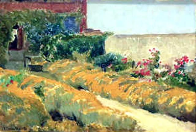Rincón en el Jardín, Joaquín Sorolla y Bastida, Joaquín Sorolla, Paisajes de Joaquín Sorolla, Impresionismo Valenciano, Joaquín Sorolla Bastida