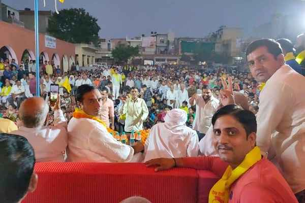 deepak-chaudhary-jansabha-in-tirkha-colony-ballabhgarh-hindi-news